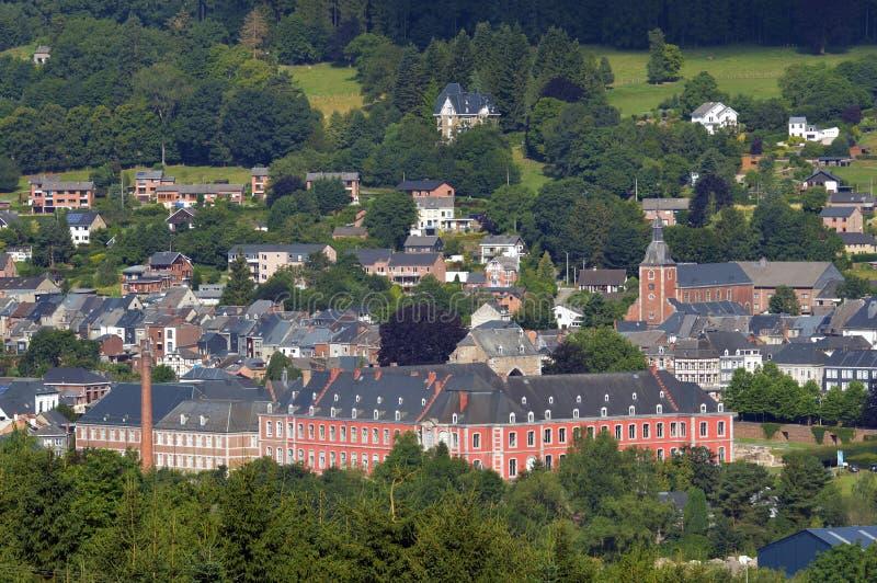 Stavelot i den belgiska Ardennesen arkivbilder