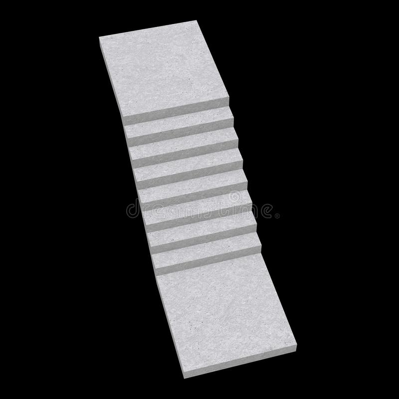 Staven, trappen voor binnenshuis, 3d vector illustratie
