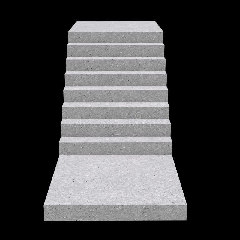 Staven, trappen voor binnenshuis, 3d royalty-vrije illustratie