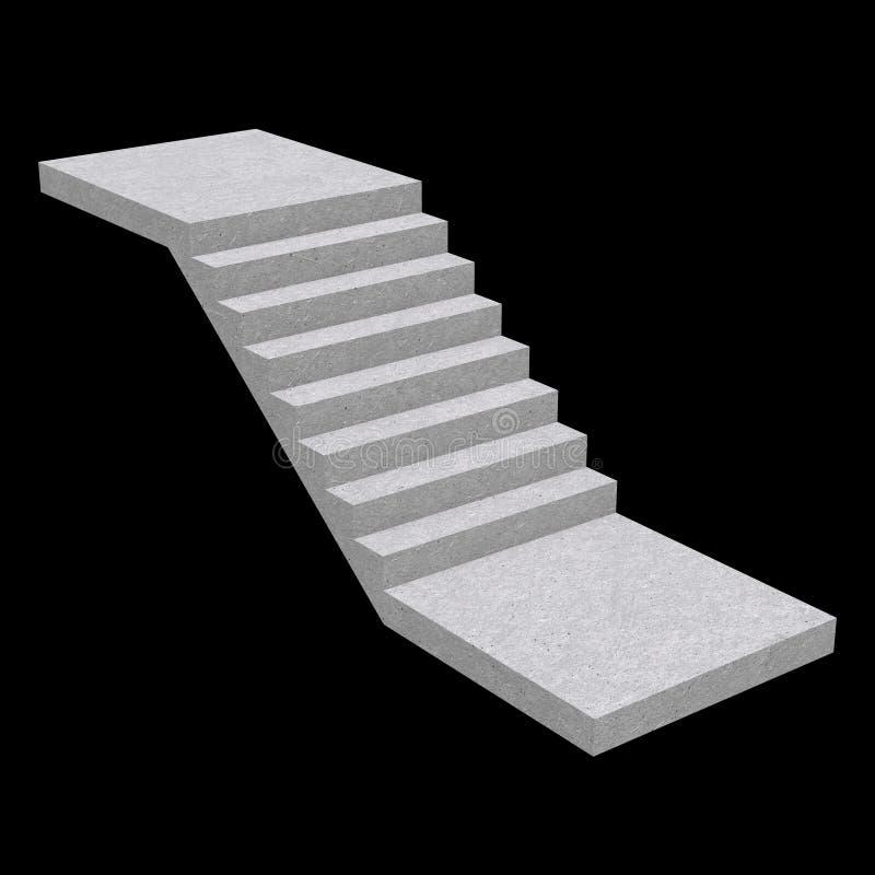 Staven, trappen voor binnenshuis, 3d stock illustratie