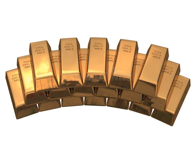 Staven van goud stock fotografie