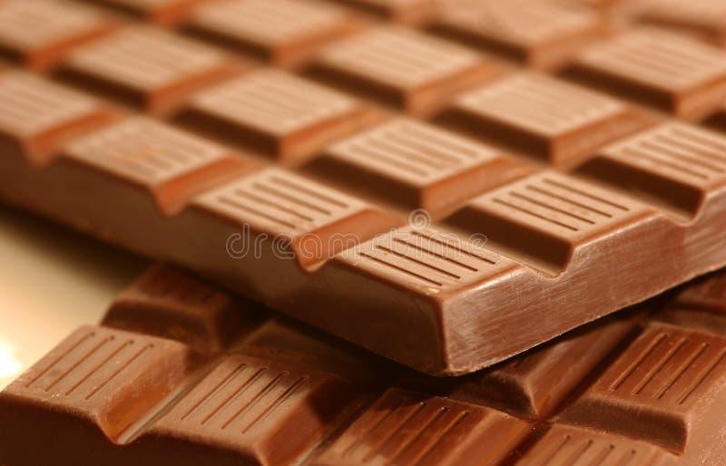 Staven van ruige chocolade royalty-vrije stock foto's