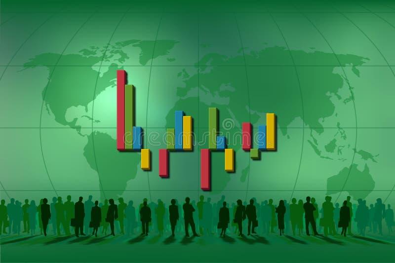 Staven voor statistieken vector illustratie