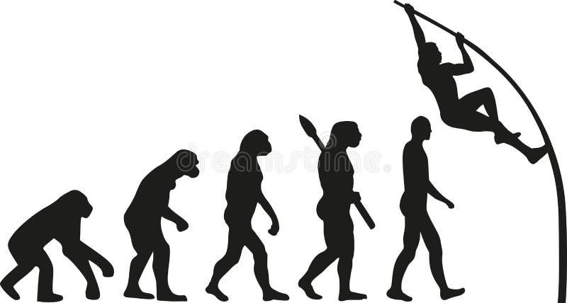 Stavhoppevolution vektor illustrationer