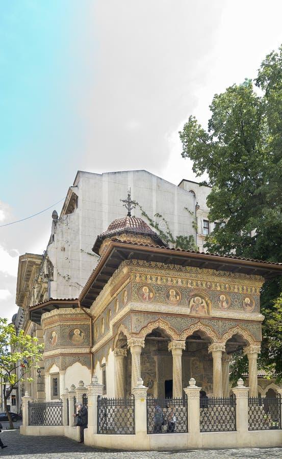 Stavropoleos-Kirche in Bukarest stockfotografie