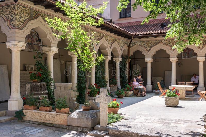Stavropoleos Kloster lizenzfreies stockbild