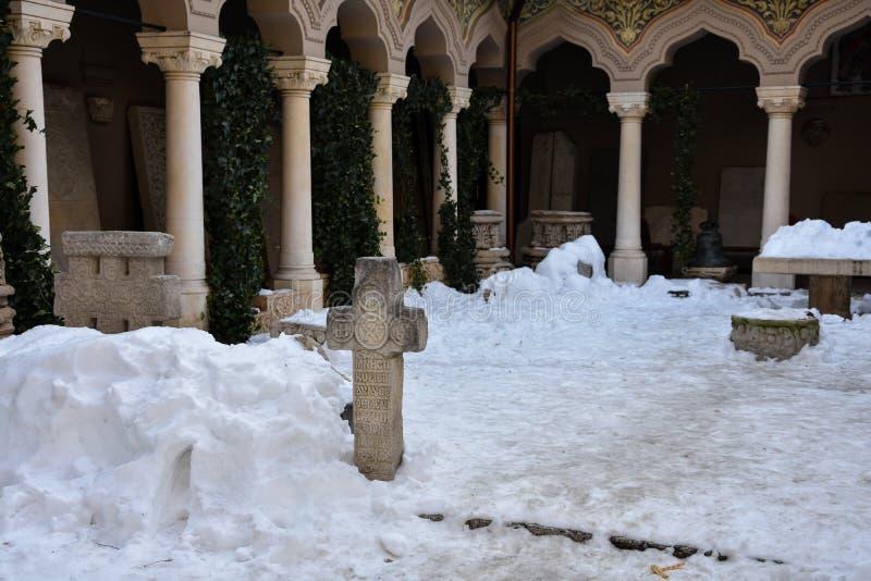 Stavropoleos-Kloster Manastirea Stavropoleos stockbilder
