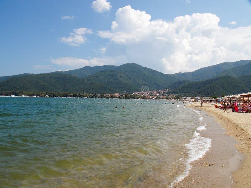 Stavros strand, Grekland arkivbilder