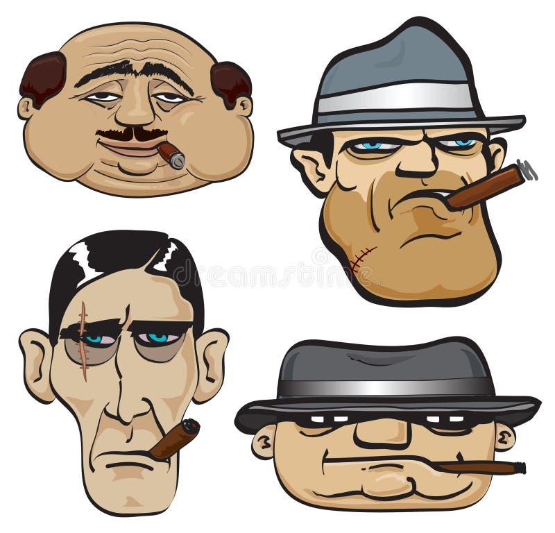 stawia czoło gangstera ilustracja wektor