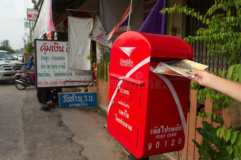 Stawia poczt?wki skrzynka pocztowa w Tajlandia zdjęcie stock
