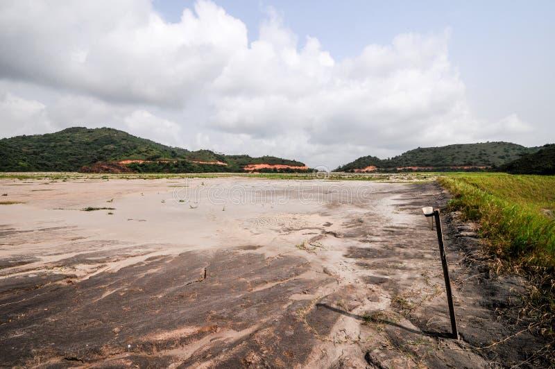 Stawowi Ghana Tailings zdjęcie stock
