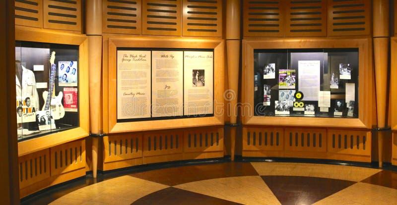 Stax grava o museu da exibição da música fotografia de stock
