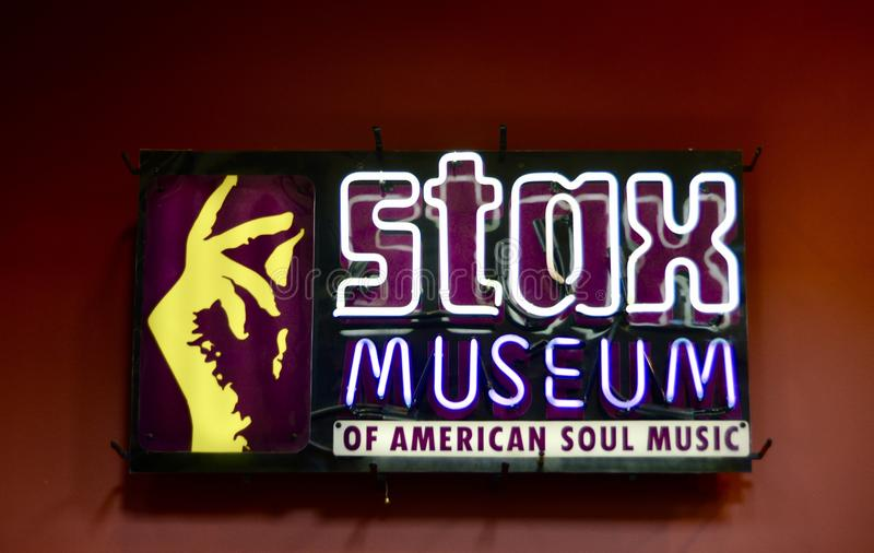Stax Museum of American Soul Music. Soulsville U.S.A. Sign at the Stax Records Museum of Music in Memphis, Tennessee. Founded in 1957 as Satellite Records, the royalty free stock images