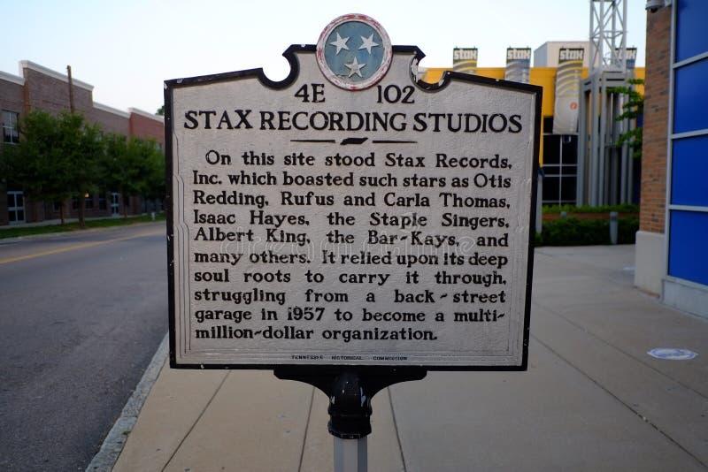 Stax museum, Memphis, TN royaltyfri bild