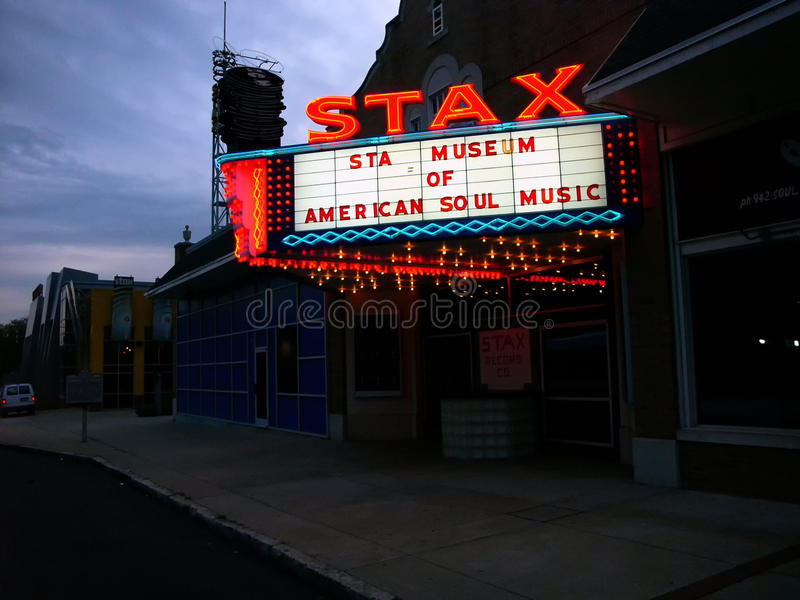 Stax Museum, Memphis, TN. Stax Records Museum of Music Building. Founded in 1957 as Satellite Records, the label changed its name to Stax Records in 1961. It was royalty free stock photos