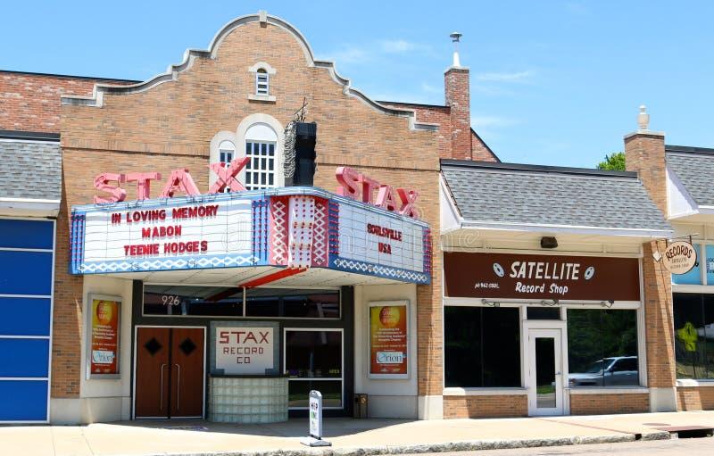 Stax Nagrywa muzeum muzyka, Memphis Tennessee obraz stock