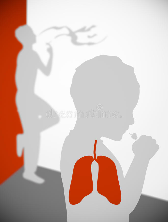 Stay Away from Second Hand Smoke Illustration stock photos