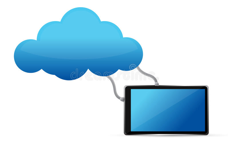 Stay Connected Tablet Cloud Royalty Free Stock Image