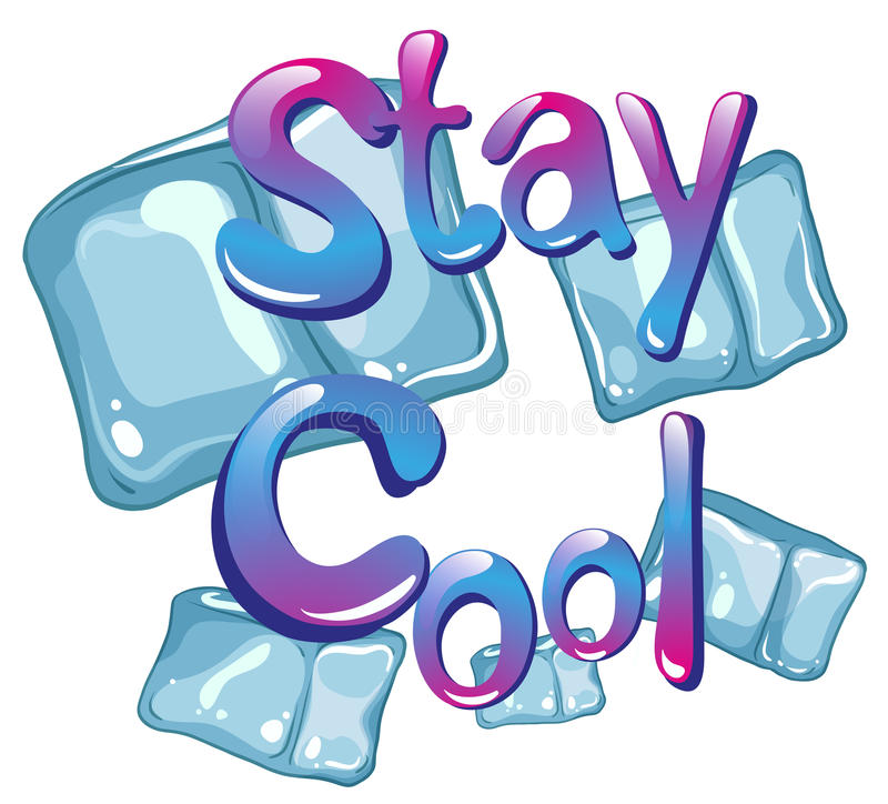 Stay cool vector illustration