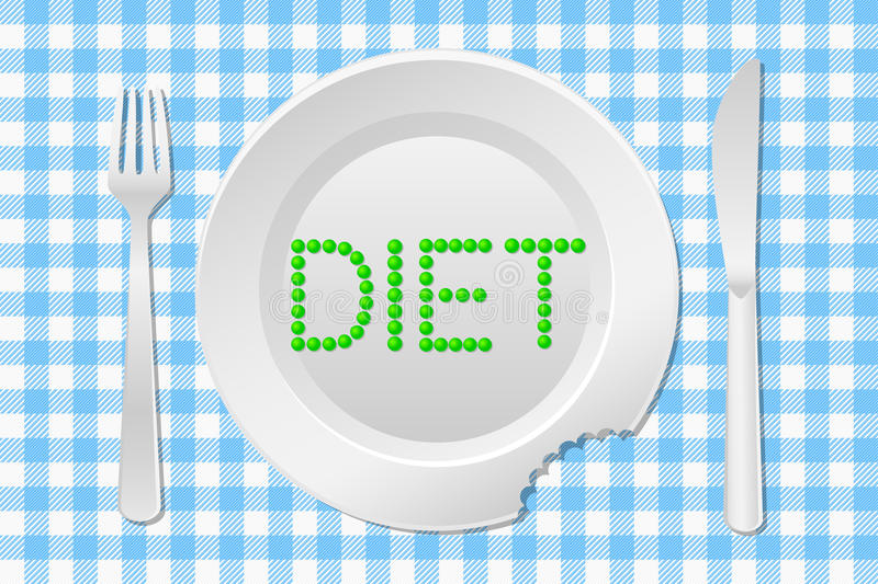Download Stay on a diet stock vector. Image of plaid, background - 30883771