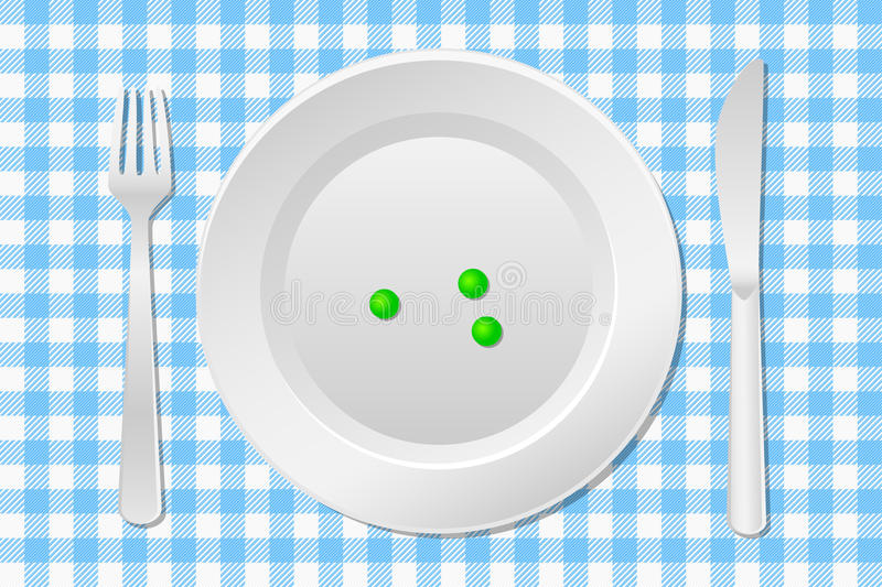 Download Stay on a diet stock vector. Image of laid, empty, dishware - 31085907