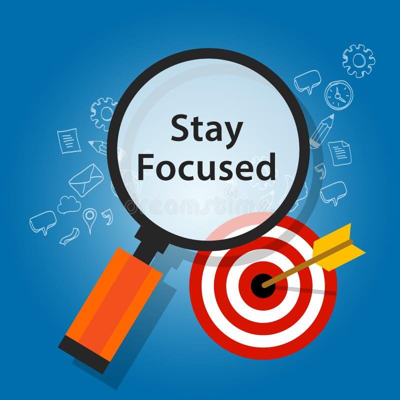 Stay focused on target reminder goals vector illustration