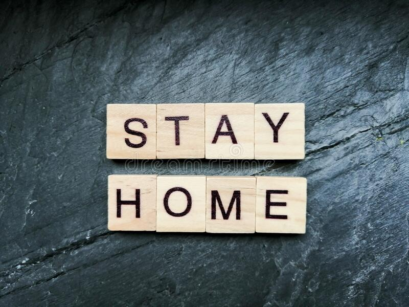 Stay at home stock images