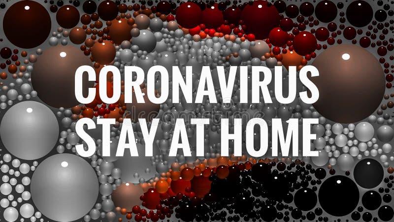 Stay At Home Coronavirus Covid Alert. Stay At Home Coronavirus Covid royalty free stock image