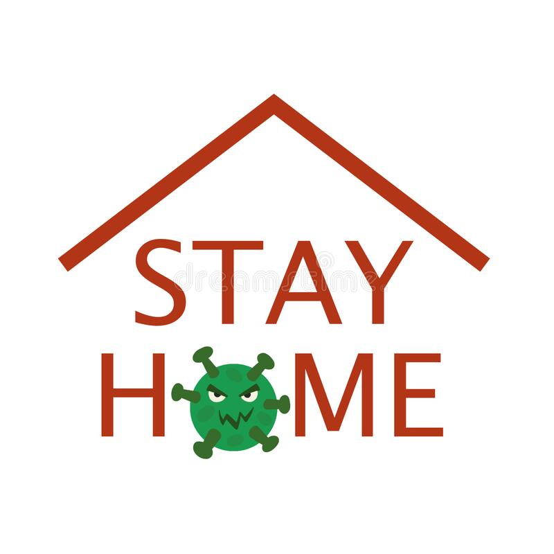 Stay home. Picture calling to stay home royalty free stock photography