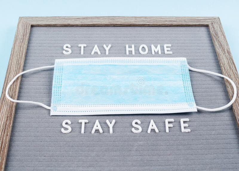 Stay home during pandemic concept royalty free stock image