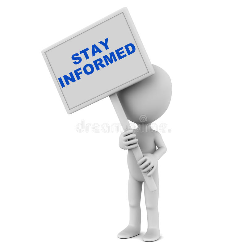 Download Stay informed stock illustration. Image of being, stay - 30454647
