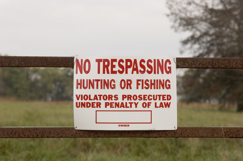 Download Stay out of here! stock photo. Image of ranch, farm, fishing - 35908