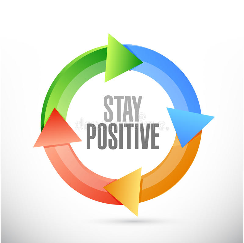 stay positive cycle sign illustration design royalty free illustration