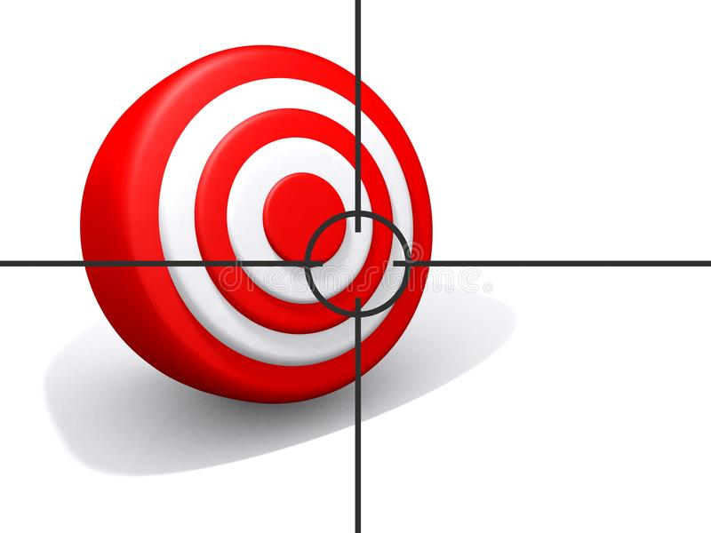 Stay on target royalty free illustration