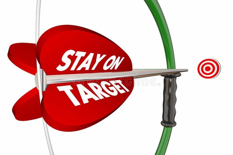 Stay on Target Aim Focus Success Bow Arrow vector illustration