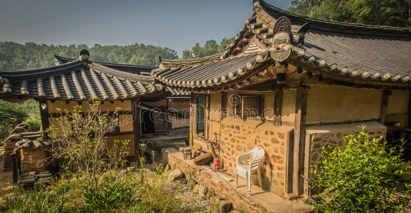 A stay in a typical korean build house, a hanok, is very special stock images