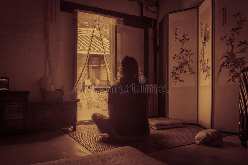 A stay in a typical korean build house, a hanok, is very special royalty free stock photos