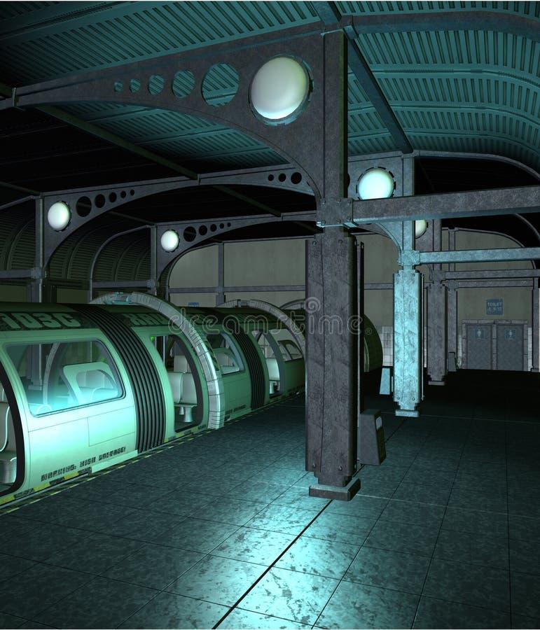 Stazione 2 di fantascienza illustrazione vettoriale