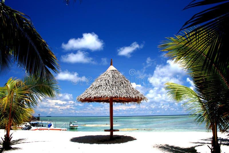 Stazione balneare dei Maldives fotografia stock