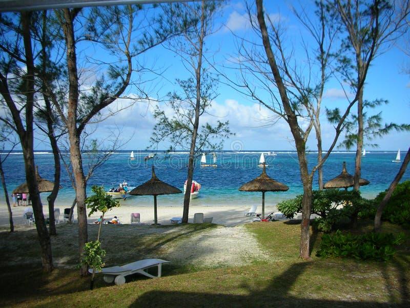 Stazione balneare del Le Coco, Isola Maurizio fotografie stock libere da diritti