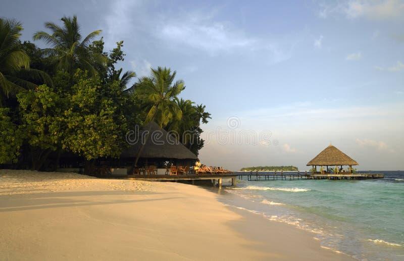 Stazione balneare del lusso dei Maldives fotografie stock libere da diritti