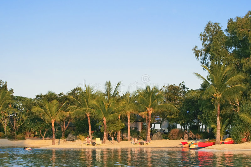 Stazione balneare di vacanza di estate fotografie stock libere da diritti