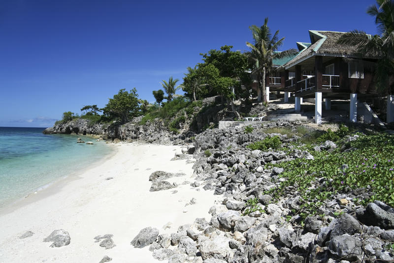 Stazione balneare Filippine dell'isola di Malapascua immagine stock libera da diritti