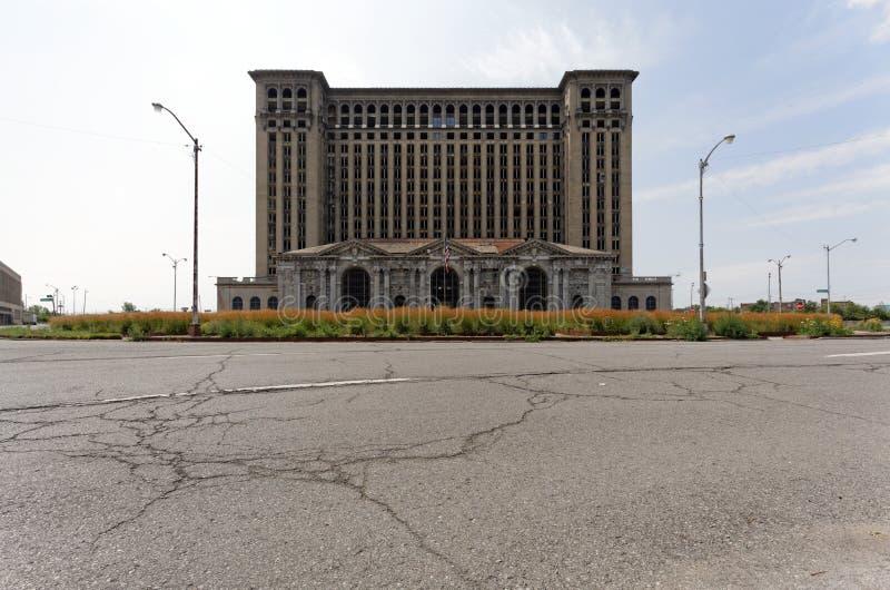 Stazione centrale del Michigan fotografia stock
