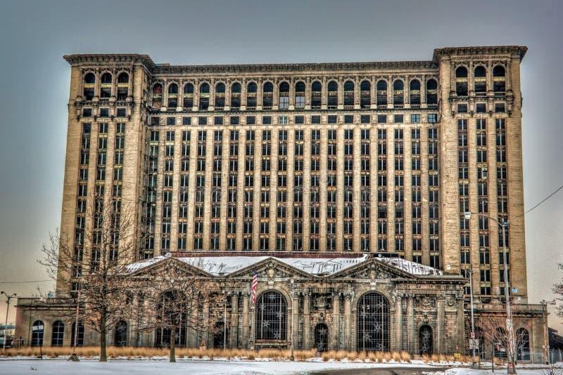 Stazione centrale del Michigan immagini stock