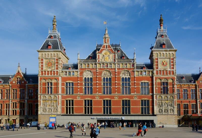 Stazione centrale di Amsterdam immagine stock