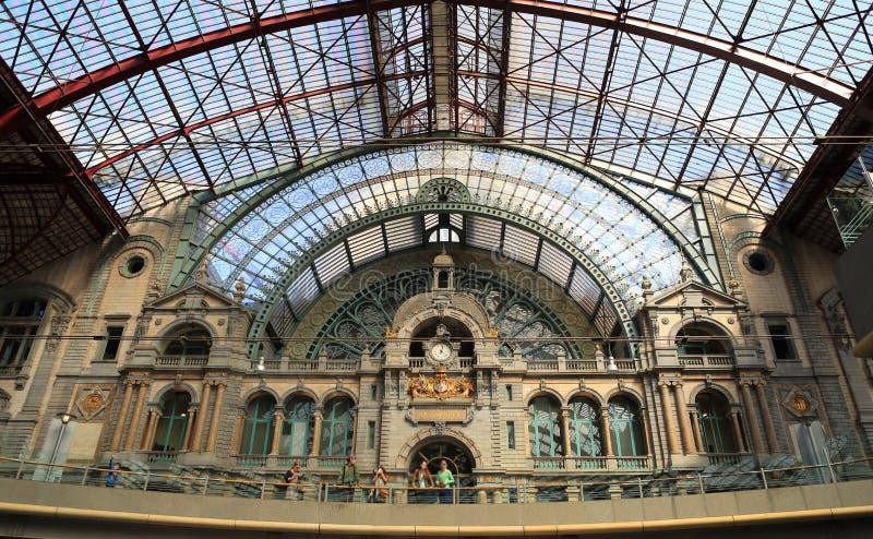 Stazione centrale di Anversa a Anversa, Belgio fotografia stock
