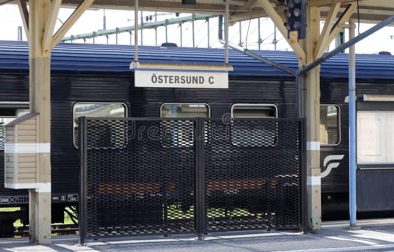 Stazione centrale di Ostersund fotografie stock