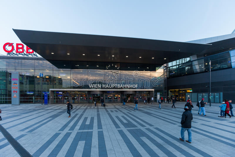 Stazione centrale di Vienna immagine stock