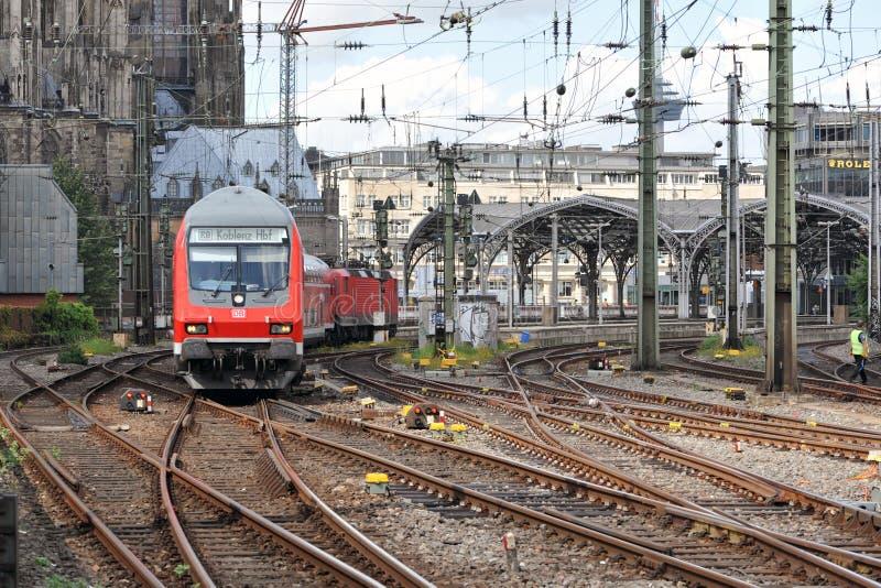 Stazione centrale l'11 agosto 2014 in Colonia, Germania fotografie stock